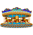 carousel with horses vector image vector image
