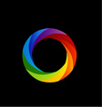 rainbow colored photography shutter vector image