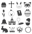 Basic Easter Icons Set vector image