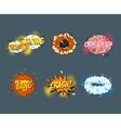 Comic blank text speech bubbles in pop art style vector image