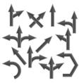 Grey Arrows vector image vector image