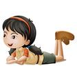 A girl lying down vector image