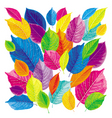 bright leaves background vector image