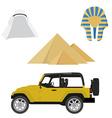 Egypt icon set vector image