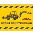 Excavator and dirt vector image