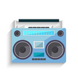 Flat vintage tape recorder for audio cassettes vector image
