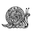 Hand drawn outline snail vector image