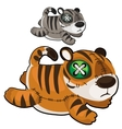 Handmade soft toy tiger animal vector image