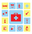 icons hospital set vector image