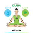 kapha dosha - ayurvedic physical constitution vector image