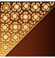 Poster with golden floral ornament vector image
