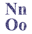 Uppercase and lowercase letters N and O vector image