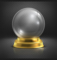Boule glass empty magic ball snow globe vector image