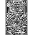 Stencil pattern vector image