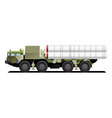 military launch vehicle vector image vector image