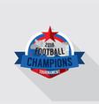 2018 football champions badge vector image