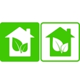 house and leaf vector image vector image