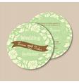 round invitation card vector image