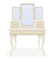 vanity table 01 vector image