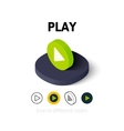Play icon in different style vector image