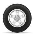 car wheel 03 vector image