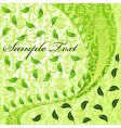 vegetative abstract background vector image vector image