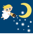 Cute angel with stars vector image