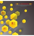Background polygons cut paper- design template vector image