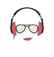 man with headphones vector image