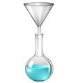 Blue liquid in glass tube vector image
