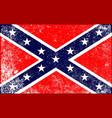 confederate civil war flag vector image