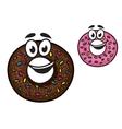 Cute happy doughnuts vector image