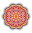 decorative round ornament vector image