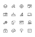 Simple SEO Icons vector image