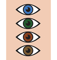 abstract eye icon set vector image