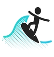 Surfing icon vector image vector image