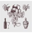Wine and winemaking vintage set vector image vector image