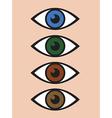 abstract eye icon set vector image