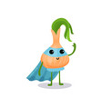 cartoon character of fantastic onion in superhero vector image