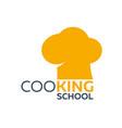 cooking school logo cooking academy vector image