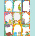 frame kids photo picture of cartoon animals pets vector image
