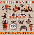 halloween monochrome emblems for decoration vector image
