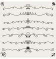 hand drawn designe elements vector image