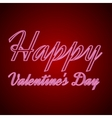 happy valentines day neon text vector image