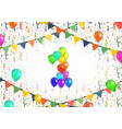 number one made up from bright colorful balloons vector image