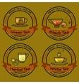 set of Tea shop logos logotype design vector image