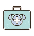 silhouette with briefcase first aid vet color vector image
