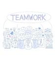Teamwork Infographics vector image