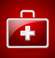 First aid kit icon vector image vector image