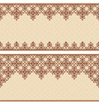 beige invitation card with vintage ornament vector image